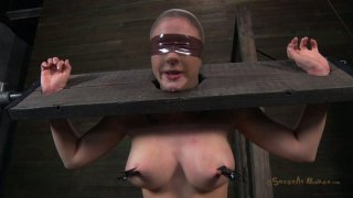 Fuckable slut Chanel Preston gives a blowjob in hot BDSM sex video image