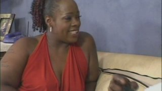 BBW ebony mom Dimples sucks and rides thick black dick image