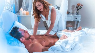 Sensual_bedroom_scene_with_all_natural_busty_MILF image