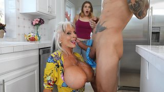Real Mature MILF steals daughter's BF image