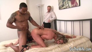 Powerless Cuckold Has to Watch a Black Cock Drill His Wife Amanda Blow image