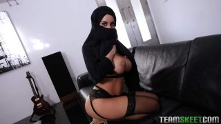 Busty Arabic Teen Violates Her Religion image