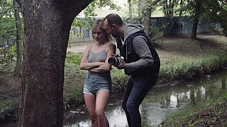 Erotic photo shoot in the forest image