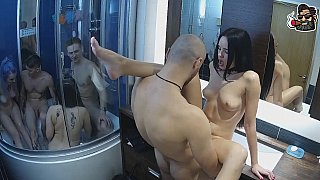 Image: Amateur group sex in the bathroom
