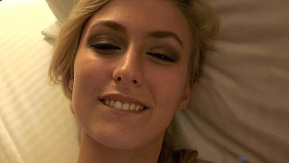 POV scene with a young skinny blonde image
