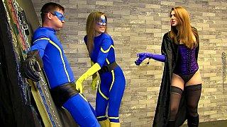Image: Superhero cosplay fetish sex session