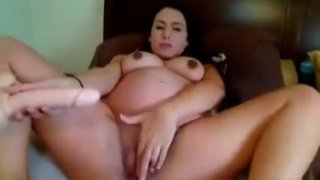 Image: Pregnat Girl Enjoy In Masturbate