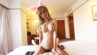 Asian bunny_has amazing tits and a hairy cunt image