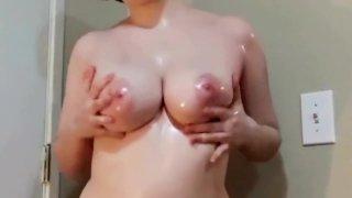 Image: Lesbian JOI and Big Oiled Tits.