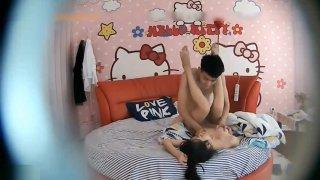 asiatica cogiendo en cuarto de hello kitty image