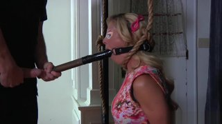 Knelt & mouth fucked_with a dildo (infernal restraints) - Unrated fucking with horse Online movie image