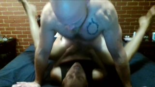 White Boy licks Ebony MILF's Asshole then dicks her down and makes her cum image