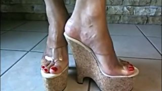 Bare Feet In Open High Heels 7 image