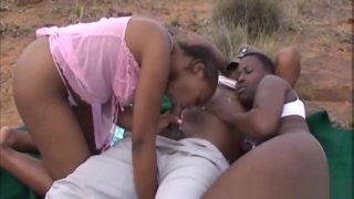 African Slut Gets Fucked Out In The Wild image