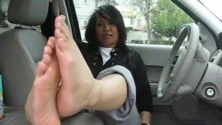 Asian MILF Feet JOI image