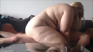 Image: Beautiful blonde BBW has her pussy fucked