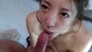 Pretty Japanese Creampied Twice on Webcam Part 2 image