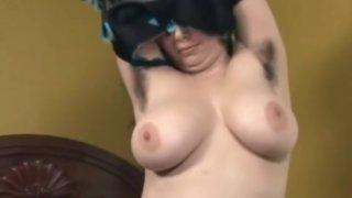 Hairy Chubby Ex Girlfriend masturbating with a vibrator image