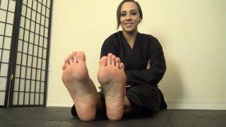 Sasha karate_feet joi image