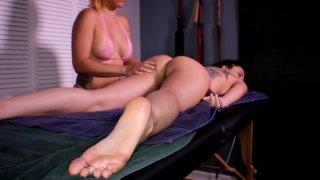 Image: 3 Babes, 2 Hot Lesbian Massages