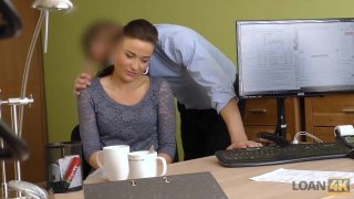 LOAN4K. Slutty Fraces wants to taste the dick of her loan manager image