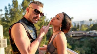 Balcony Bang & Blowout with Vicky Chase! image