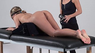 Image: Bondage massage, amateur forced to cum