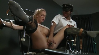 BDSM XXX Big breasted subs are tied up and pumped image