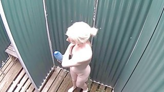Blonde MILF Women Has No Idea About Spy Camera in image