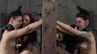 Tied up cutie receives gratifying for her pussy image