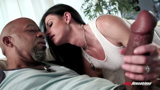 Horny wife breeded by a big black cock image