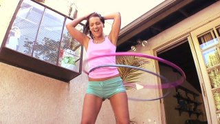 Bodacious brunette_Sabrina Sweet takes black_hose in her mouth image