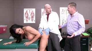 Austin Lynn gets fucked by Dr. Sins with her boyfriend watching image