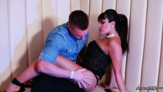 Aphrodisiac Valery Summer strips and gets her wet snatch polished properly image