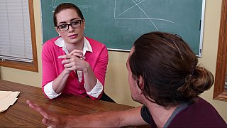 Sexy student turns_on a cock-loving teacher image