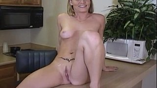Very cute blonde having sex in office image