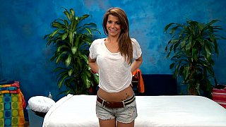 Erotic massage with a skinny teen image