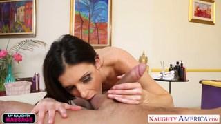 thai massage surprise big co, Slim hottie india summer massaging a big cock image