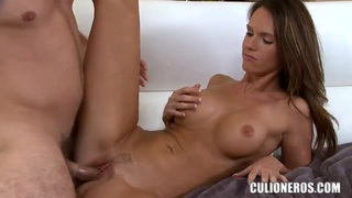 Magnificent babe Jennifer Dark does a very good blowjob and fucks image