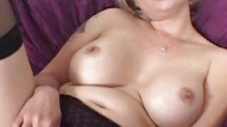 Busty MILF gets her tight cunt screwed by a fat black prick image