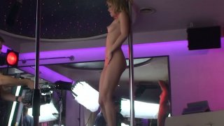Behind the scene video with hot strip dancer Blue Angel image