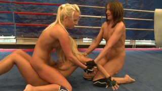Image: Three feisty chicks Andy Brown, Carla Cox and Nikky Thorne fuck on a ring