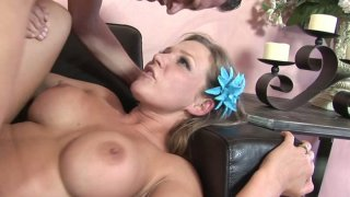 Spoiled chick Nikki Sexx gets a hard missionary fuck image