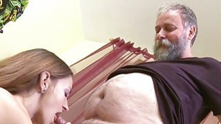 Crazy old stud bonks mouth_pussy of a young girl image