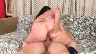 Round and Raunchy BBW Lacy Bangs Is Fucked Up Her Tight Asshole image