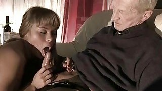 Very Old Man Fucks Very Young Girl And Cums On Her image