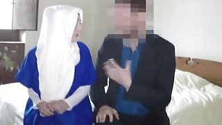 A horny hotel manager gives an Arab girl a room in return of her pusy image