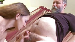 Crazy old stud fucks mouth twat of a young girl image