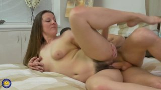 Big booty mature MILFs have sex with horny young guys image