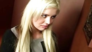 Amazing Blonde Babe Gives Nice Blowjob In The Glory Hole image